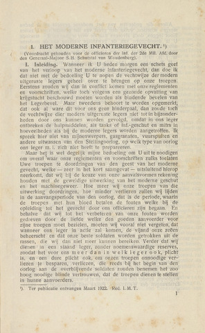 Indisch Militair Tijdschrift 1922-05-01