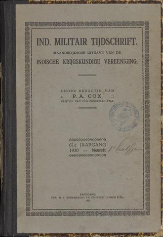 Indisch Militair Tijdschrift 1930
