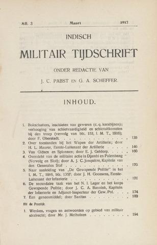 Indisch Militair Tijdschrift 1917-03-01