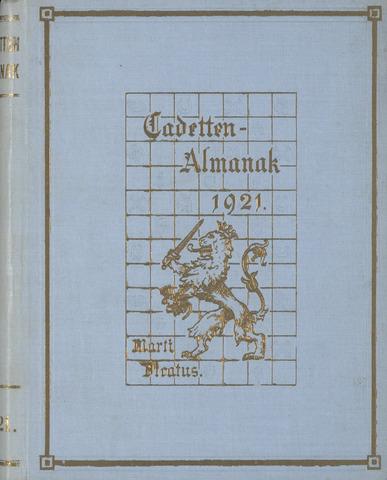 Almanak der Koninklijke Militaire Akademie 1921-01-01