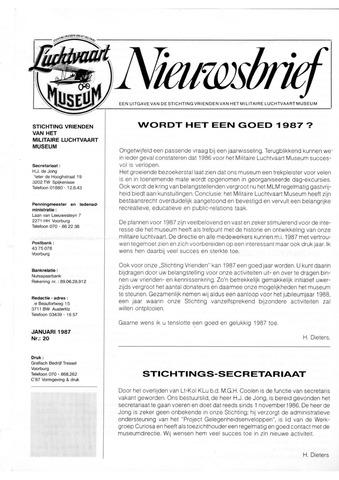 Nieuwsbrief Militaire Luchtvaart Museum 1987