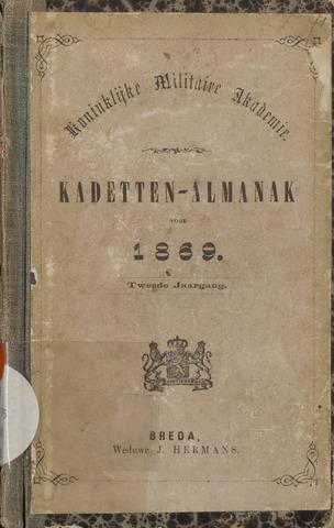 Almanak der Koninklijke Militaire Akademie 1869