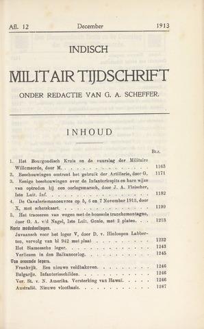 Indisch Militair Tijdschrift 1913-12-01