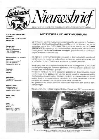 Nieuwsbrief Militaire Luchtvaart Museum 1987-04-01