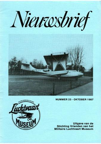 Nieuwsbrief Militaire Luchtvaart Museum 1987-10-01
