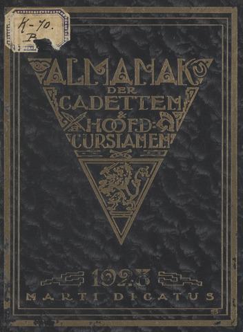 Almanak der Koninklijke Militaire Akademie 1928