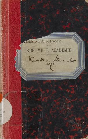 Almanak der Koninklijke Militaire Akademie 1872