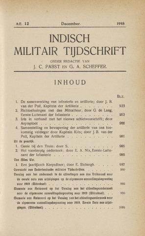 Indisch Militair Tijdschrift 1918-12-01