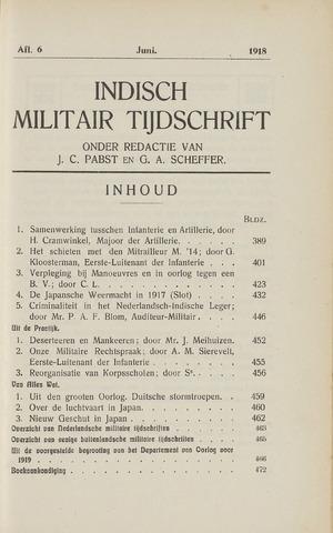Indisch Militair Tijdschrift 1918-06-01
