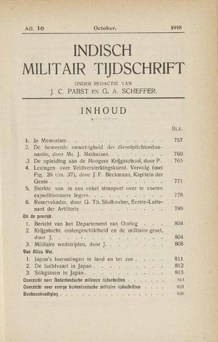Indisch Militair Tijdschrift 1918-10-01