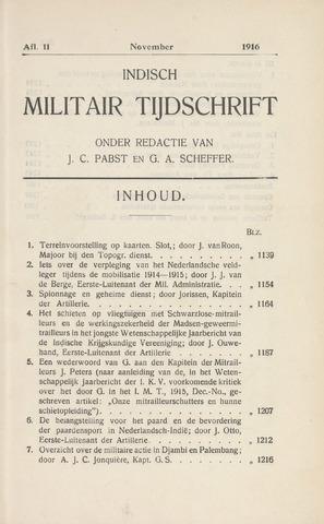Indisch Militair Tijdschrift 1916-11-01