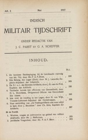 Indisch Militair Tijdschrift 1917-05-01
