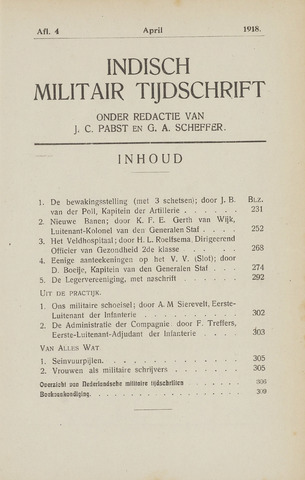 Indisch Militair Tijdschrift 1918-04-01