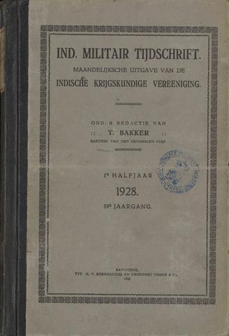 Indisch Militair Tijdschrift 1928