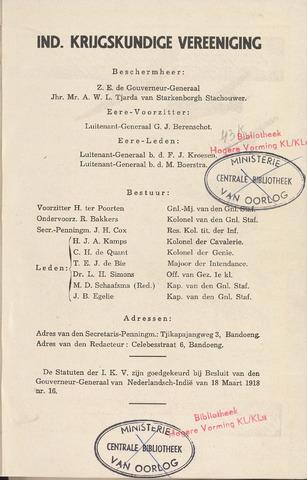 Indisch Militair Tijdschrift 1941