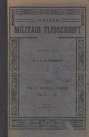 Indisch Militair Tijdschrift 1910-07-01