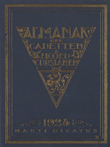 Almanak der Koninklijke Militaire Akademie 1924-01-01
