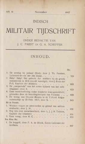 Indisch Militair Tijdschrift 1917-11-01