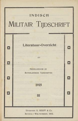 Indisch Militair Tijdschrift 1915-12-01