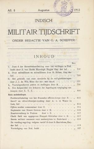 Indisch Militair Tijdschrift 1913-08-01
