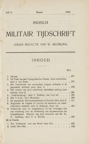 Indisch Militair Tijdschrift 1915-03-01