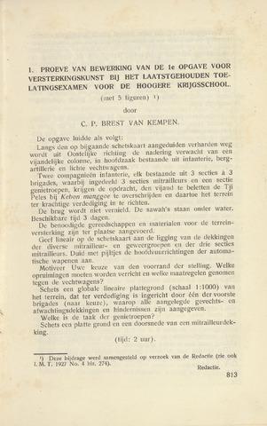 Indisch Militair Tijdschrift 1927-11-01