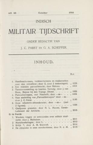 Indisch Militair Tijdschrift 1916-10-01