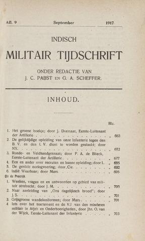 Indisch Militair Tijdschrift 1917-09-01