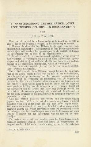 Indisch Militair Tijdschrift 1927-12-01