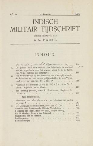 Indisch Militair Tijdschrift 1920-09-01