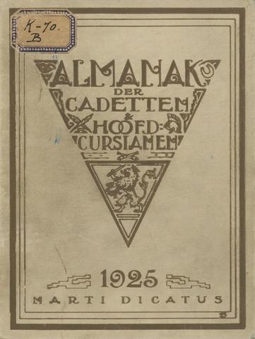 Almanak der Koninklijke Militaire Akademie 1925