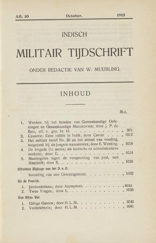 Indisch Militair Tijdschrift 1915-10-01