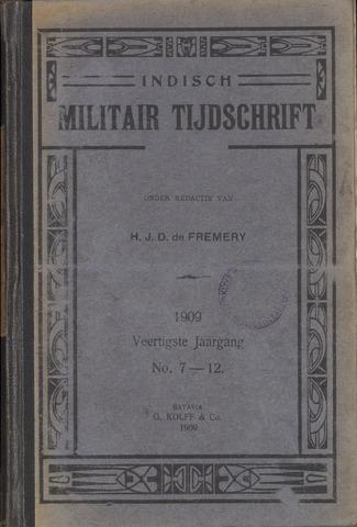 Indisch Militair Tijdschrift 1909-07-01