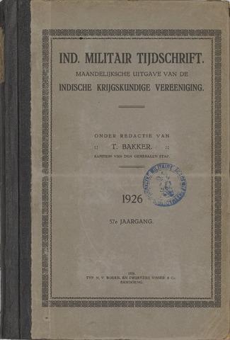 Indisch Militair Tijdschrift 1926