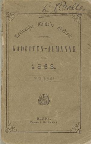 Almanak der Koninklijke Militaire Akademie 1868-01-01