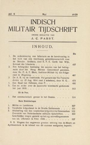 Indisch Militair Tijdschrift 1920-05-01