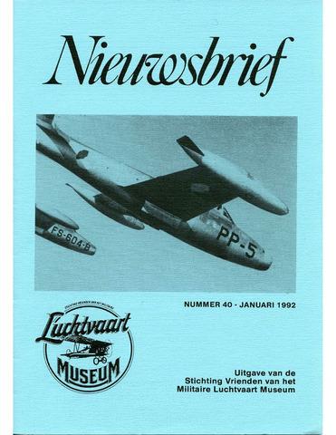Nieuwsbrief Militaire Luchtvaart Museum 1992