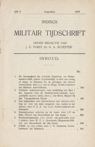 Indisch Militair Tijdschrift 1917-08-01