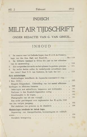 Indisch Militair Tijdschrift 1913-02-01