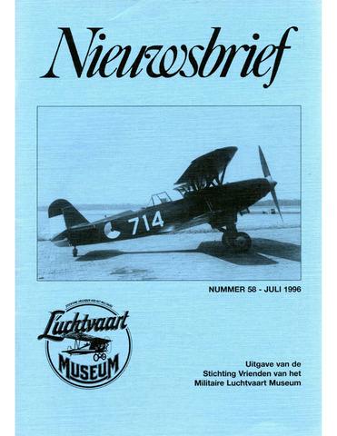 Nieuwsbrief Militaire Luchtvaart Museum 1996-07-01