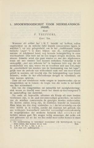 Indisch Militair Tijdschrift 1921-10-01