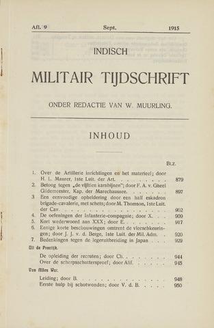 Indisch Militair Tijdschrift 1915-09-01