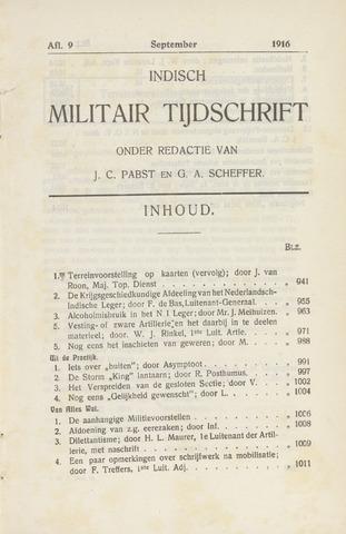 Indisch Militair Tijdschrift 1916-09-01