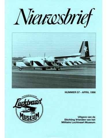 Nieuwsbrief Militaire Luchtvaart Museum 1996-04-01