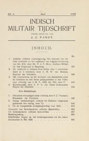 Indisch Militair Tijdschrift 1920-06-01