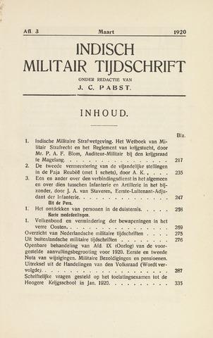 Indisch Militair Tijdschrift 1920-03-01