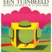 Affiche tentoonstelling 'Tuinen in beeld : een tuinbeeld' (Bussum)