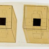 Tesseract met pijlen naar binnen gericht