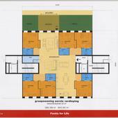 Presentatieboekje 'De centrale huiskamer is flexibel in te delen'.
