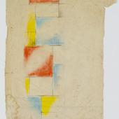 Kleurontwerp voor glas-in-loodcompositie XIII
